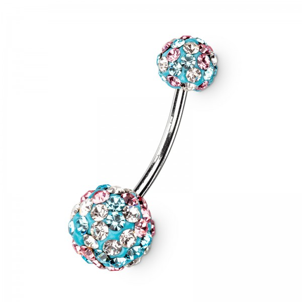 "Bauchnabelpiercing ""Belly Dancer"" Blau"