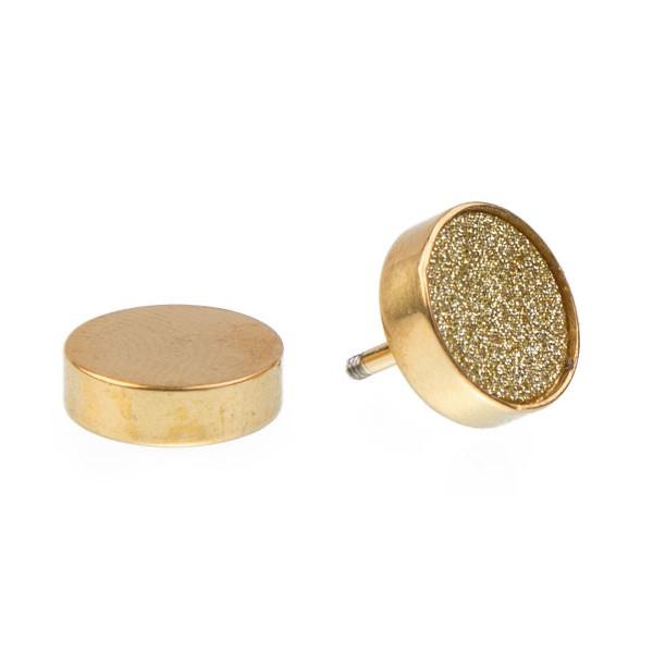 "Fake Plug ""Glitzersand"", gold"