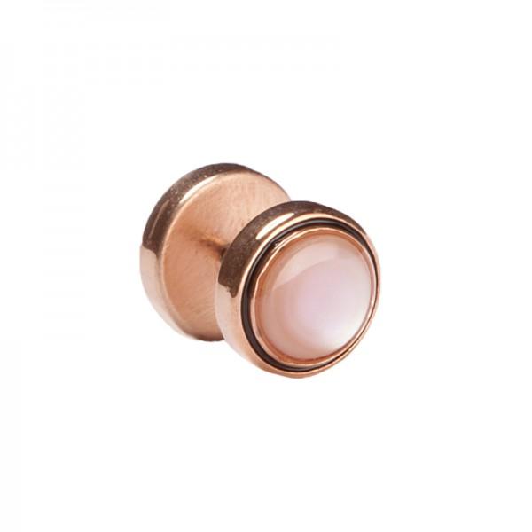 Fake Plug Seashell, Roségold-Farbton